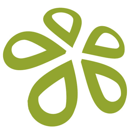Eco Hosting Flower Logo
